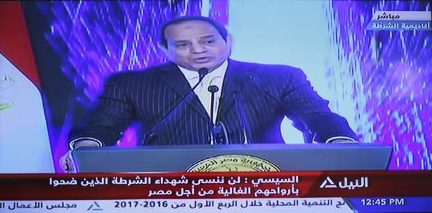 Egypt's Sisi commemorates Police Day, discusses unrest in Sinai