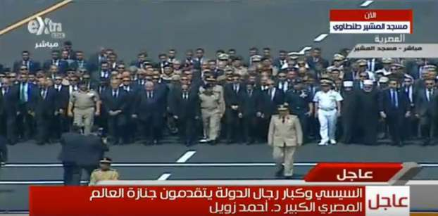 Sisi leads military funeral of Egyptian Nobel Laureate Ahmed Zewail