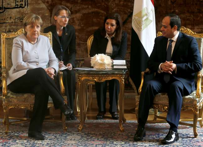 Merkel under fire for downplaying concerns about Egyptian rights
