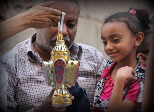 Ramadan celebrations in Moez Street, Old Cairo