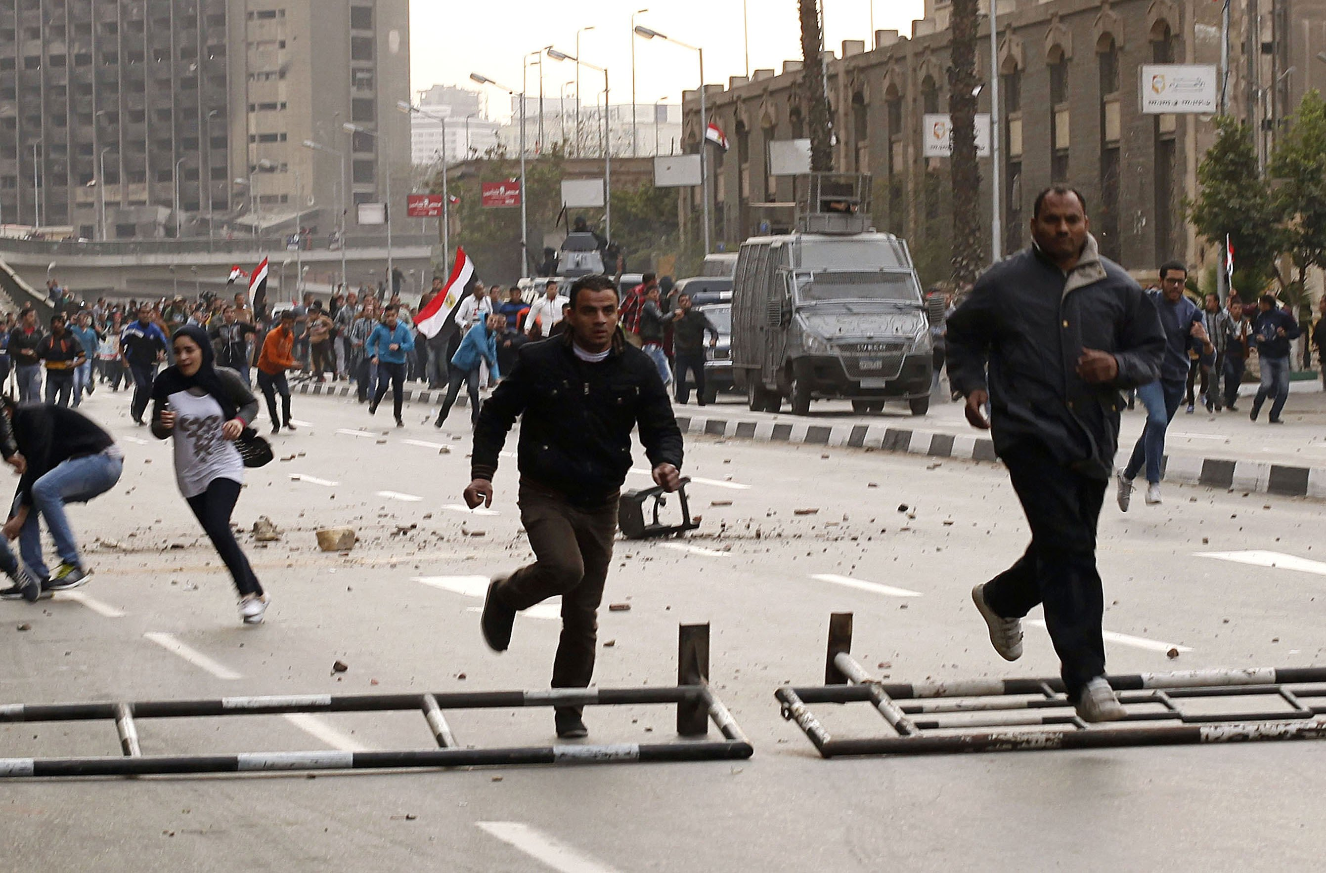 Protest dispersed outside press syndicate