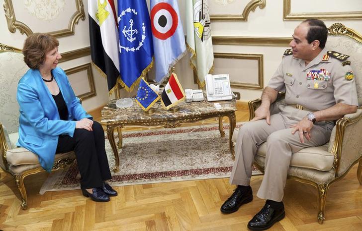 EU's Ashton discusses Egypt transitional phase with Sisi