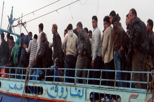 Egypt naval forces foil illegal immigration of 238 heading to Italy