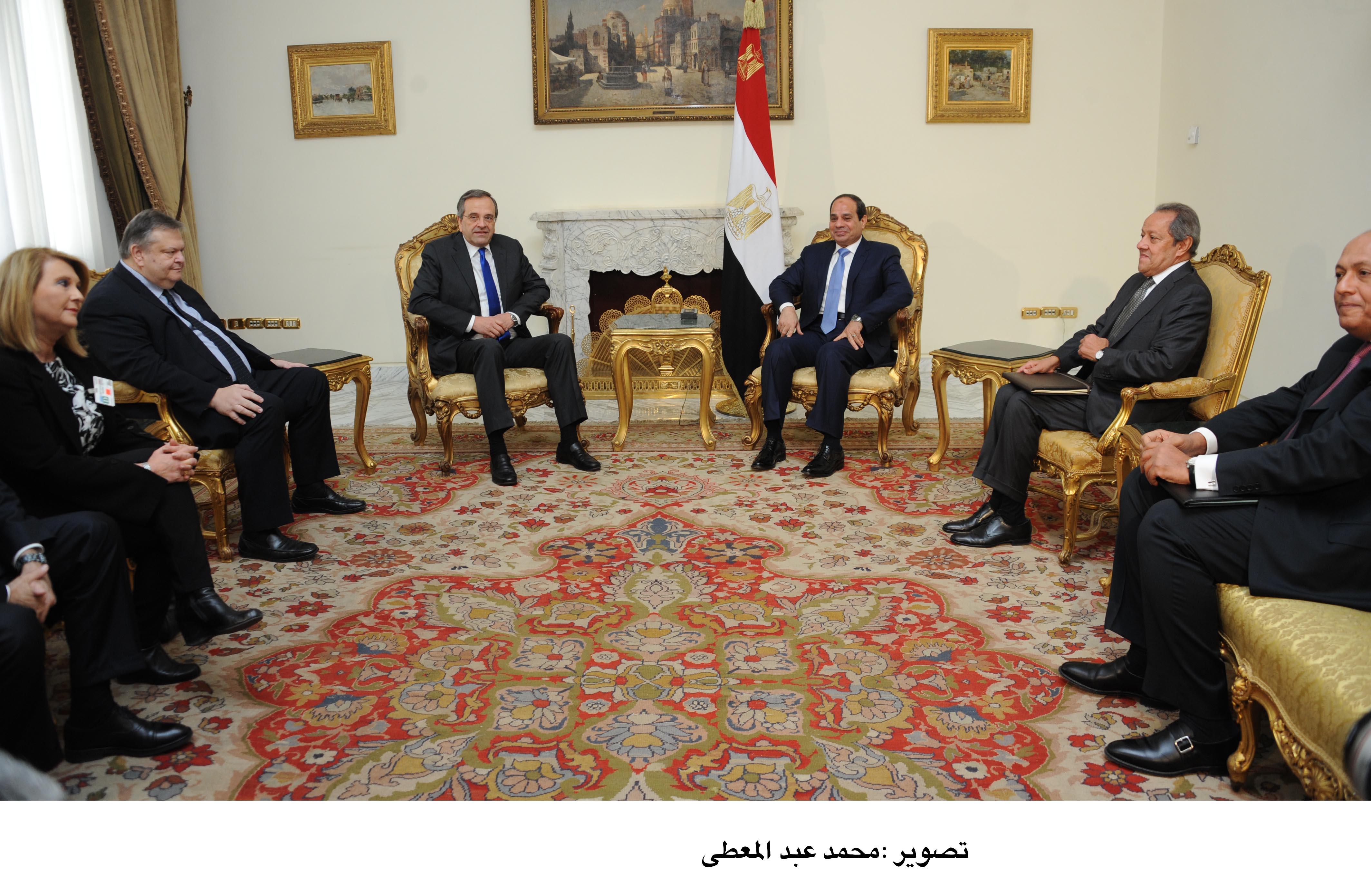 Sisi meets Greek PM ahead of Cairo tripartite summit