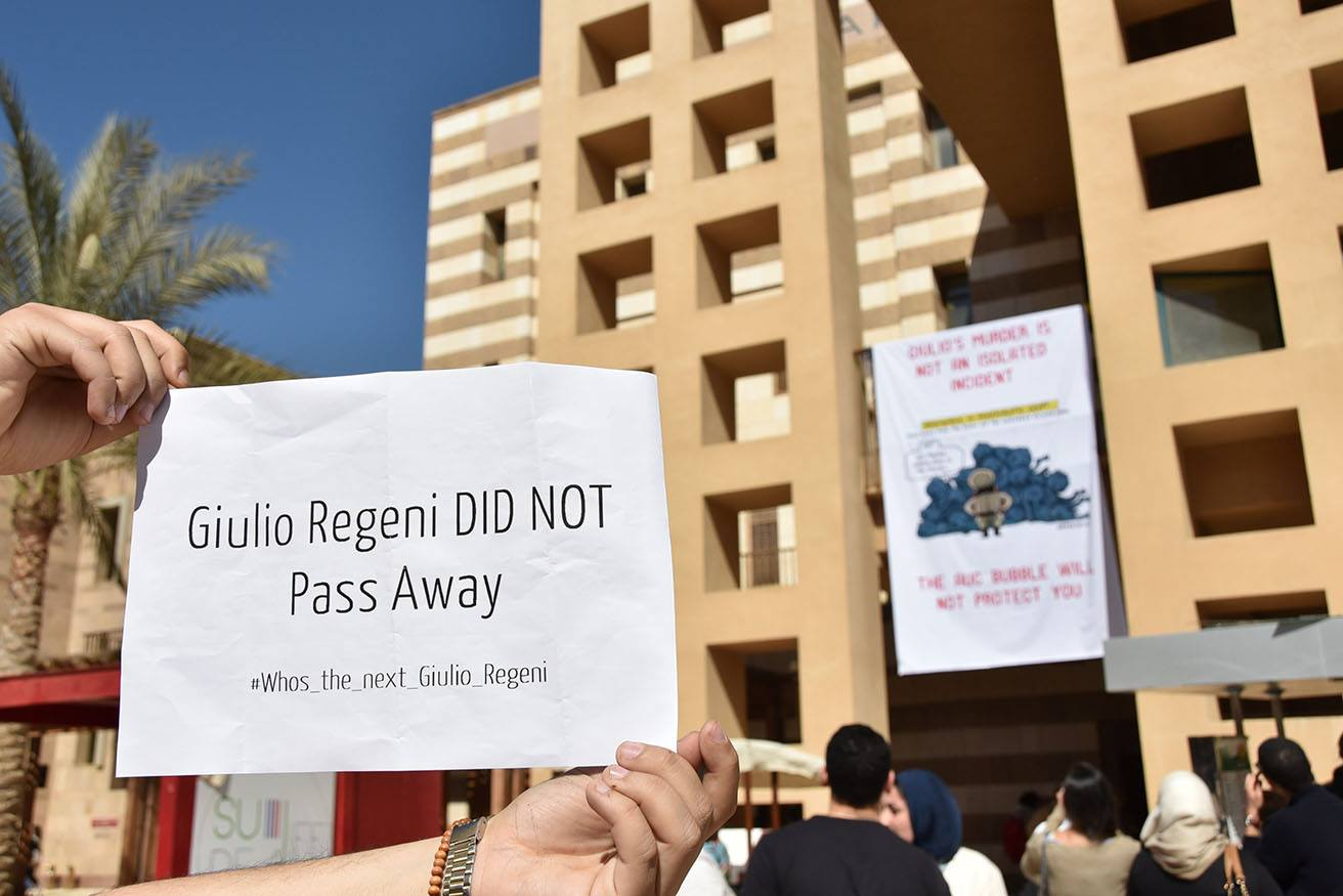 AUC students, professors mourn death of Giulio Regeni amid concerns over academic freedom