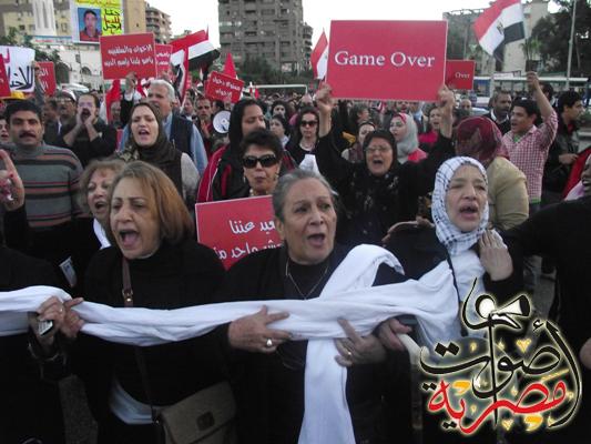 Egyptian women march on Jan. 25 anniversary