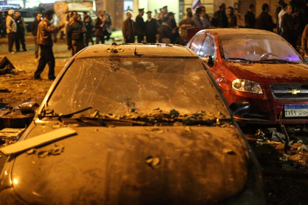 An explosion took place near a gas station in the Giza neighborhood of Faisal, Dec. 27, 2015. ASWAT MASRIYA - Mohamed El Raai