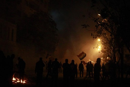 Egypt says shots came from among protesters
