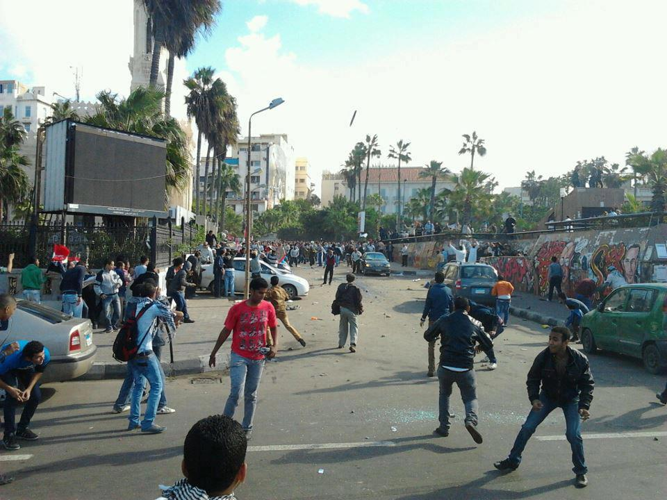 Update: 12 injured in Alexandria clashes