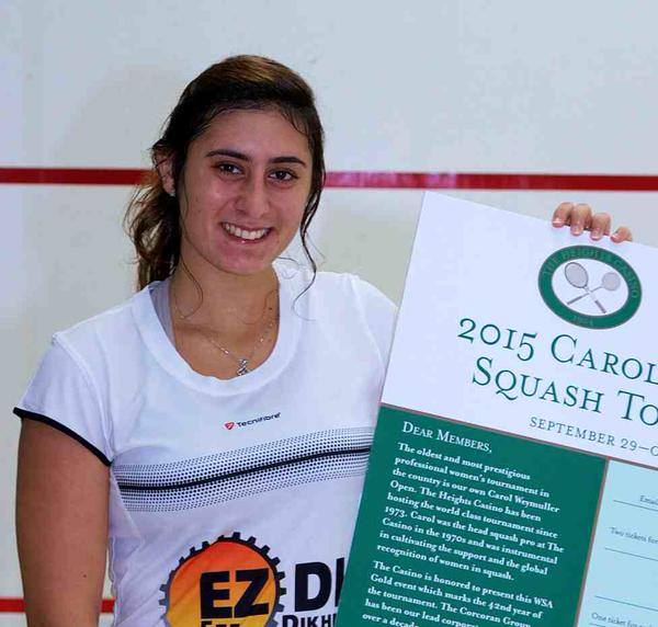 Squash player Nour el-Sherbini ranks first in New York championship