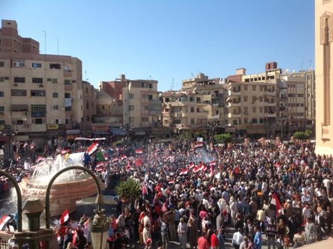 Demonstrations in Alexandria to condemn