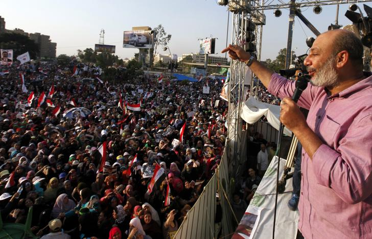 TV channel: More than 20 bodies found below Rabaa Square's platform