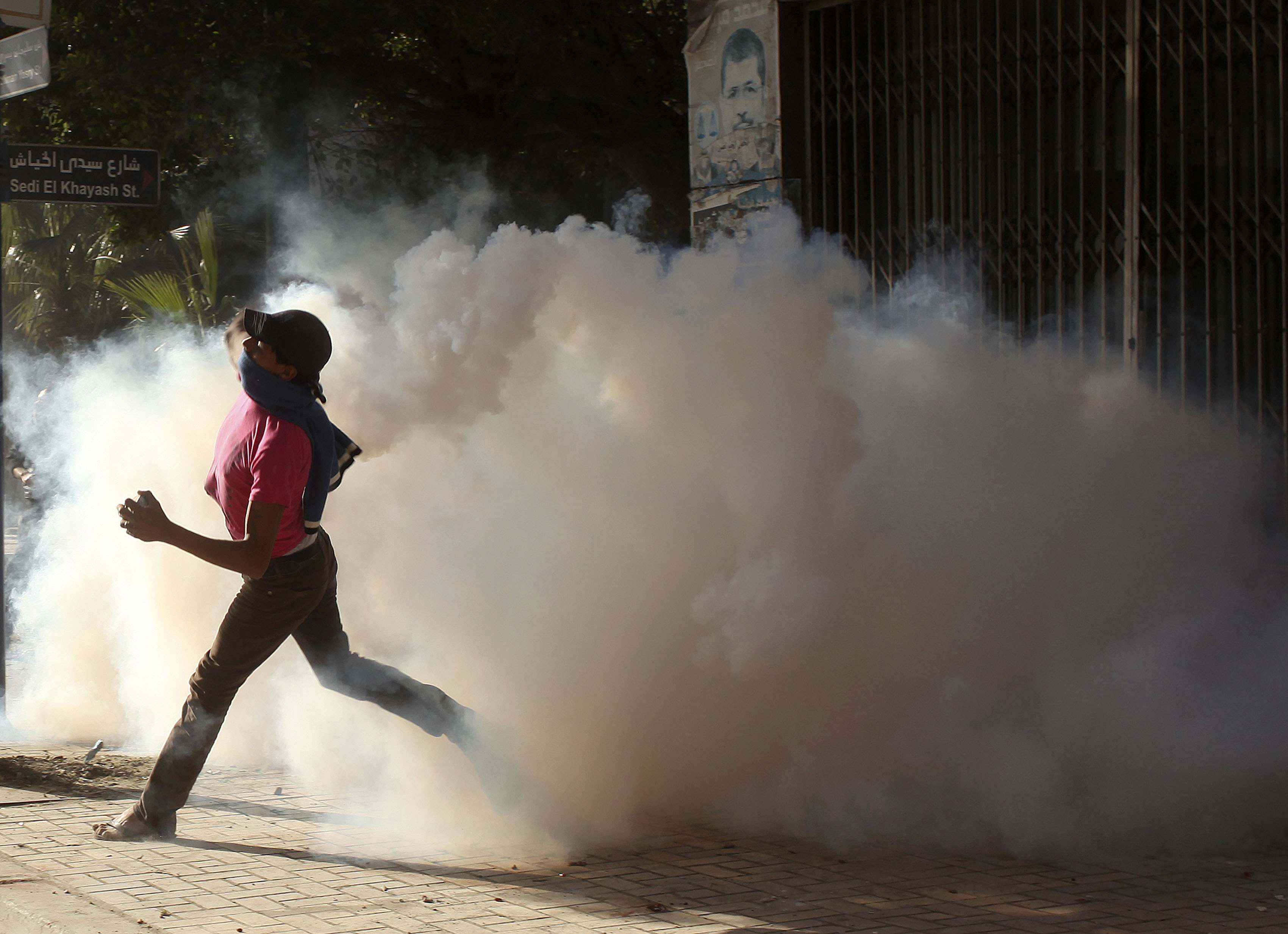Alexandria police fire teargas at protesters