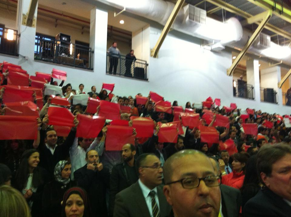 Anti-SCAF chants in AUC commencement