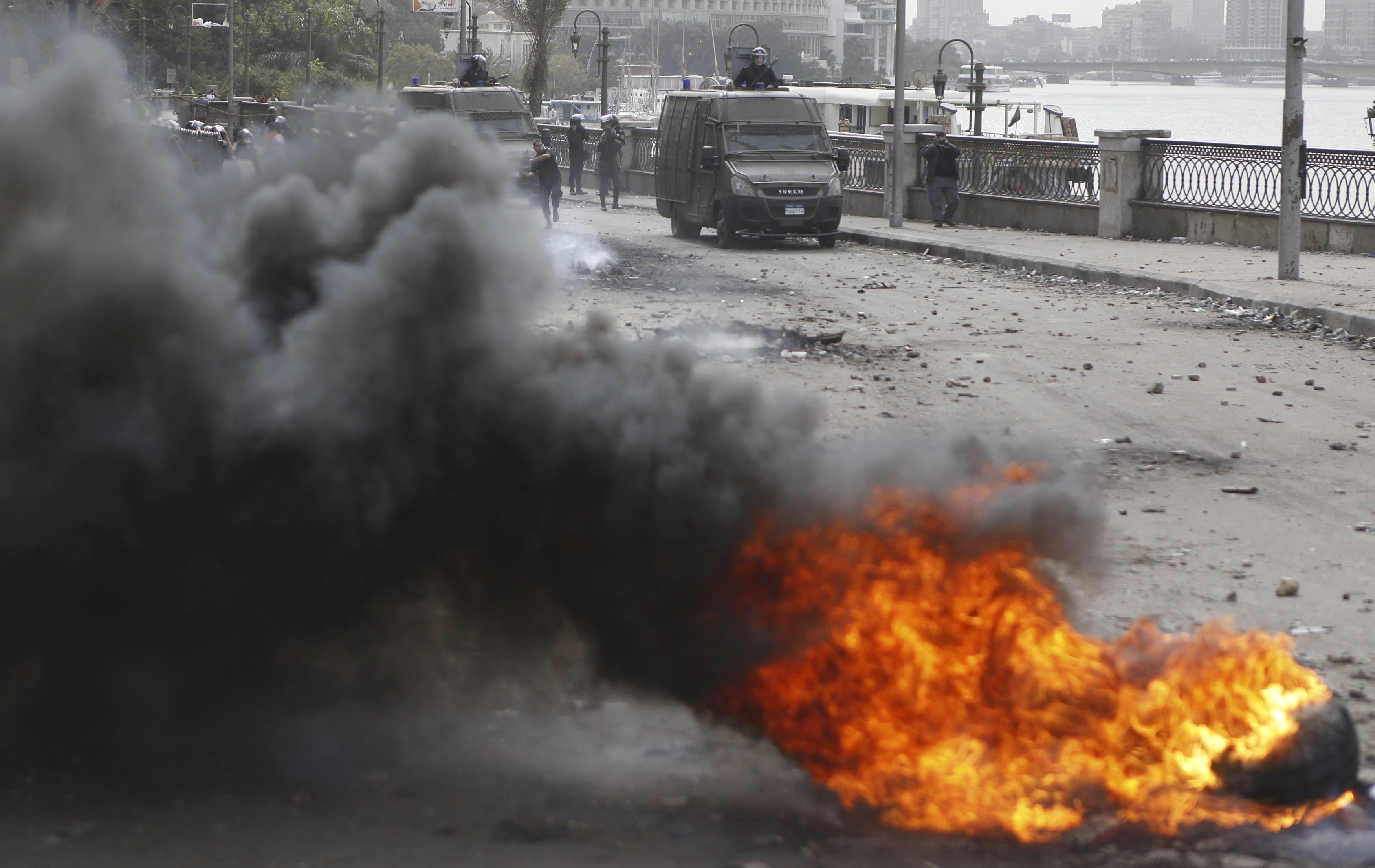 BREAKING: Egypt police fire teargas at march headed to Shura Council