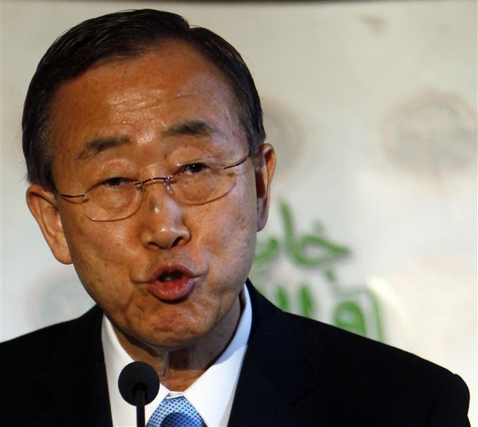 UN chief Ban calls for peaceful Egyptian referendum