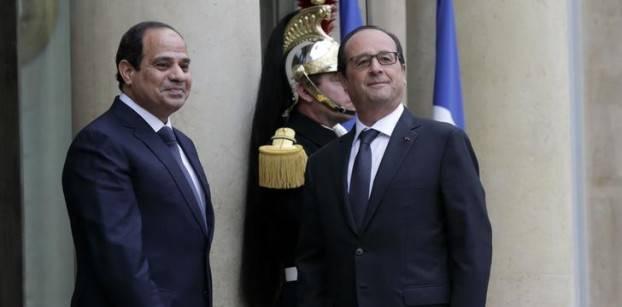 السيسي وأولوند يؤكدان مواصلة التعاون بين مصر وفرنسا بمختلف المجالات