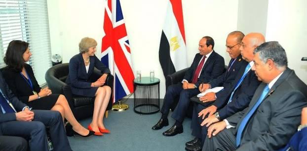 السيسي: مصر تتطلع لتحقيق نقلة نوعية في التعاون مع بريطانيا