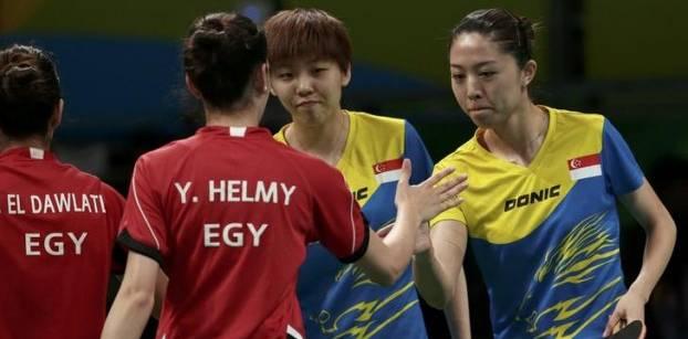 فريق مصر لتنس الطاولة سيدات يودع أولمبياد ريو