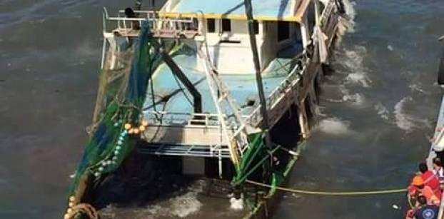 القبض على أحد المتهمين في حادث غرق مركب رشيد بالبحيرة