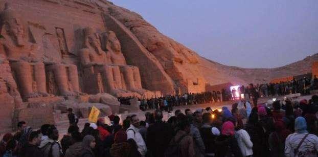 الشمس تتعامد على معبد رمسيس الثانى بأبو سمبل في أسوان