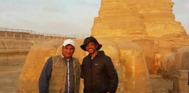 ويل سميث يزور الأهرامات للترويج للسياحة المصرية