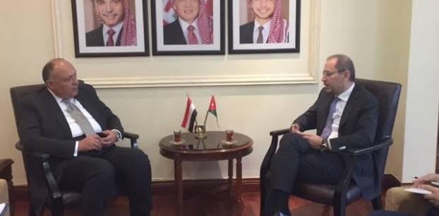 مصر والأردن تتفقان على التنسيق مع أمريكا بشأن القضية الفلسطينية