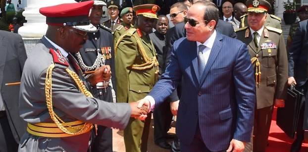 السيسي في أوغندا اليوم لبحث تعزيز العلاقات بين البلدين