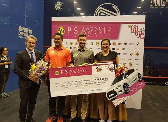 نور الشربيني تفوز بذهبية بطولة العالم للإسكواش بماليزيا