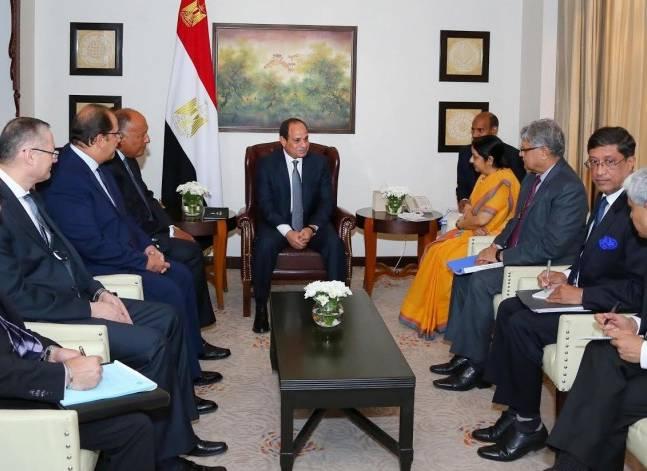 بدء المباحثات الرسمية بين السيسي ومودي لبحث سبل تعزيز التعاون بين البلدين