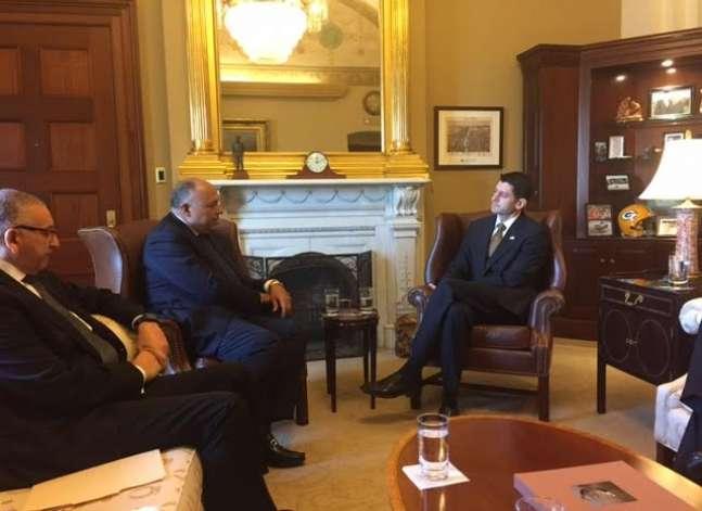 الخارجية: شكري يبحث مع رئيس الكونجرس سبل دفع العلاقات الثنائية
