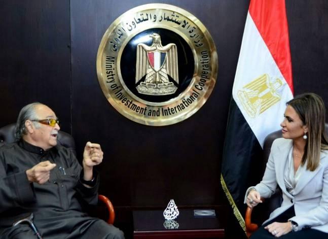 سحر نصر تبحث مع الشيخ صالح كامل زيادة استثماراته في مصر
