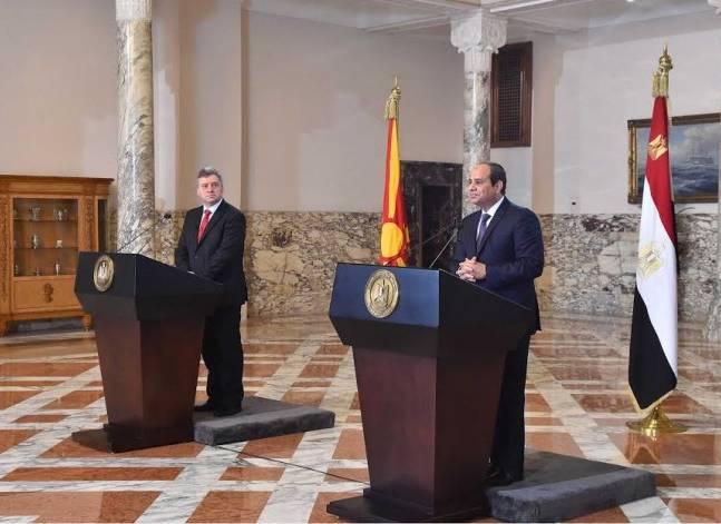 إيفانوف يدعو السيسي لزيارة مقدونيا مطلع العام المقبل