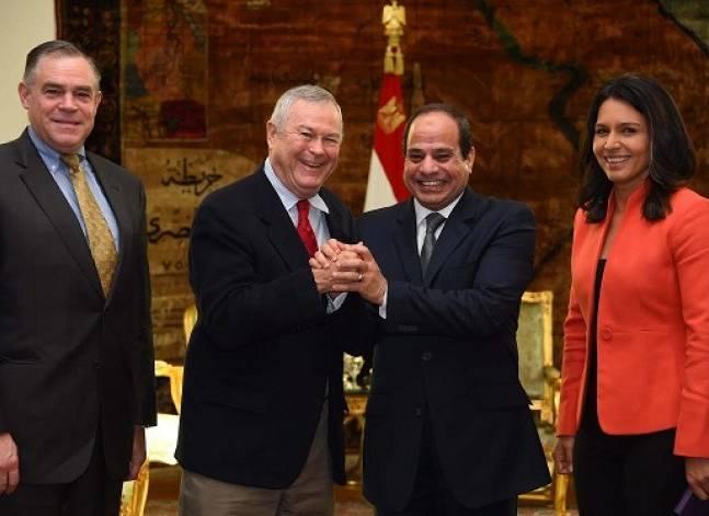 الرئاسة: وفد الكونجرس يؤكد أهمية مساندة مصر في معركتها ضد الإرهاب