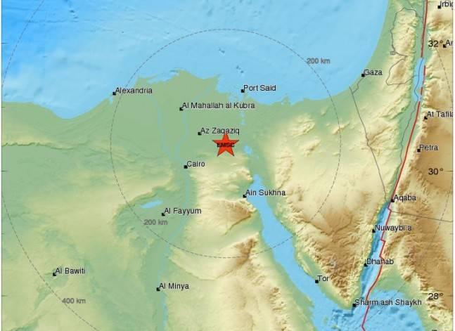 المركز الأوروبي للزلازل: هزة أرضية بقوة 4.2 ريختر تضرب مصر
