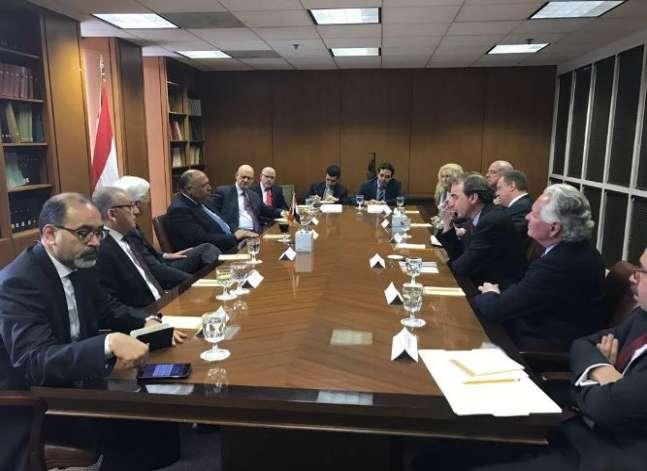 شكري يبحث مع ممثلي منظمات أمريكية يهودية سبل تعزيز العلاقات