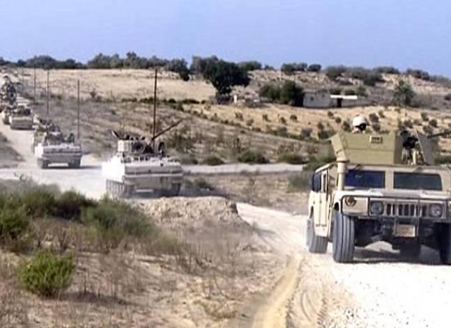 """القوات المسلحة: توجيه ضربات جوية ضد عناصر """"إرهابية"""" بشمال سيناء"""