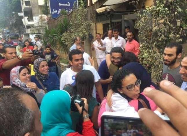 إخلاء سبيل ماهينور المصري ويوسف شعبان من قسم شرطة الرمل بالإسكندرية