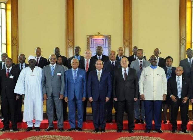 السيسي لرؤساء محاكم أفارقة: مصر حريصة على ترسيخ دولة القانون