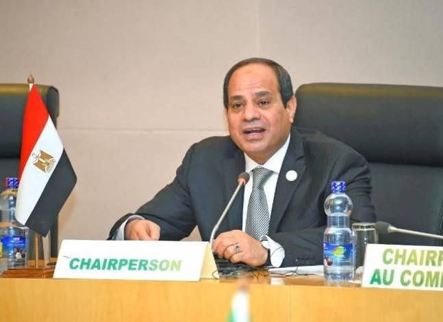 السيسي يسلّم رئاسة لجنة تغير المناخ الأفريقية إلى نظيره الجابوني