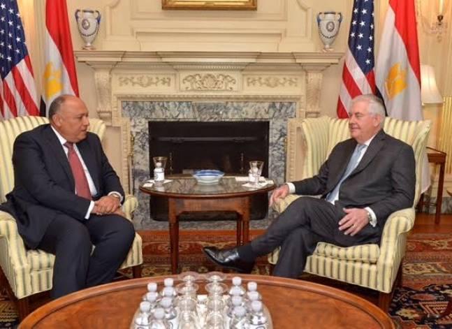 شكري وتيليرسون يؤكدان على خصوصية العلاقات المصرية الأمريكية