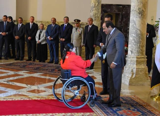 السيسي يكرم أبطال الألعاب الأولمبية والبارالمبية والعسكرية