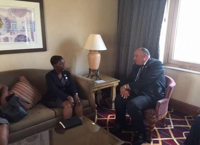 شكري: مصر تسعى لزيادة معدلات التبادل التجاري والاستثمار في رواندا