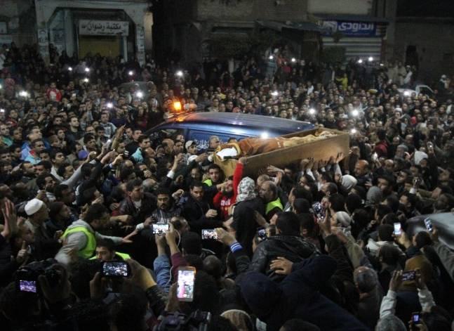 دفن جثمان عمر عبد الرحمن في المنصورة