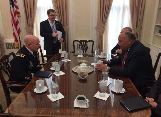 شكري يبحث مع مسؤول أمريكي سبل التعاون بين مصر والولايات المتحدة