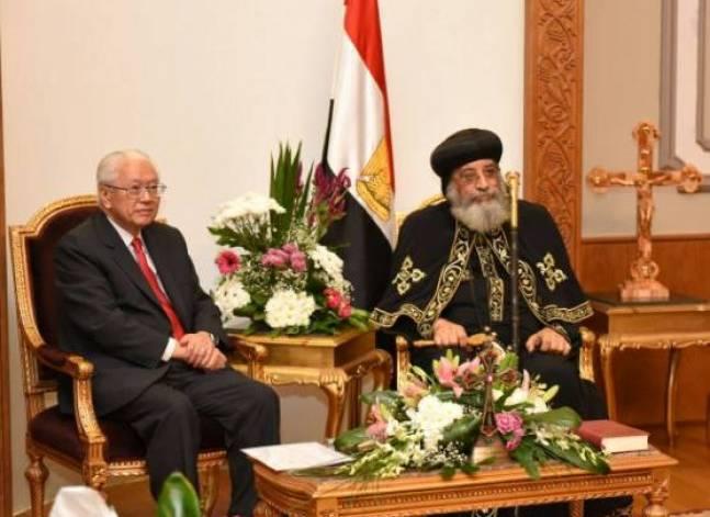 البابا تواضروس لرئيس سنغافورة: مصر ينتظرها مستقبل واعد