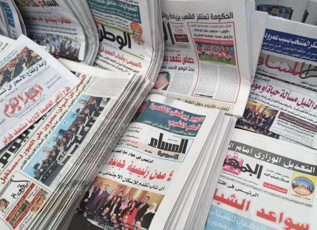 تصريحات السيسي في مؤتمر الشباب بأسوان تتصدر صحف السبت