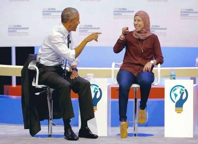ضيفة أوباما المصرية: لا يوجد دعم كاف من الحكومة أو غيرها لرواد الأعمال