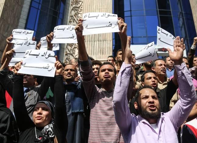حبس 9 من المشاركين في مظاهرات 25 أبريل بدمياط 4 أيام