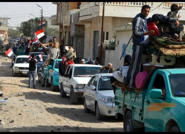 بالصور- الجيش يعلن عودة الحياة لطبيعتها في بعض مناطق الشيخ زويد